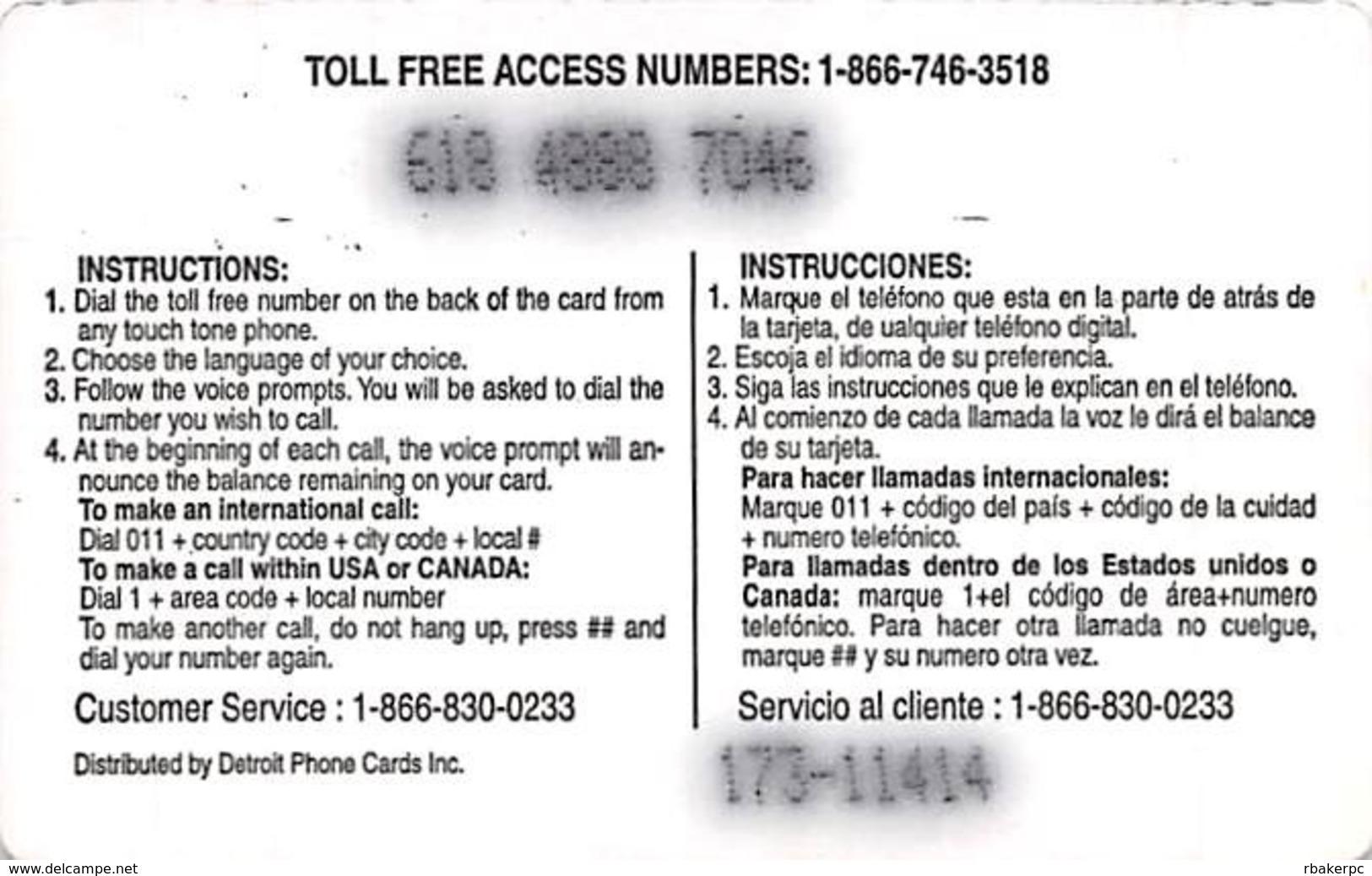 $5 Global Sin Cargo De Conexion FUERTE Mexico / Phone Card - Phonecards