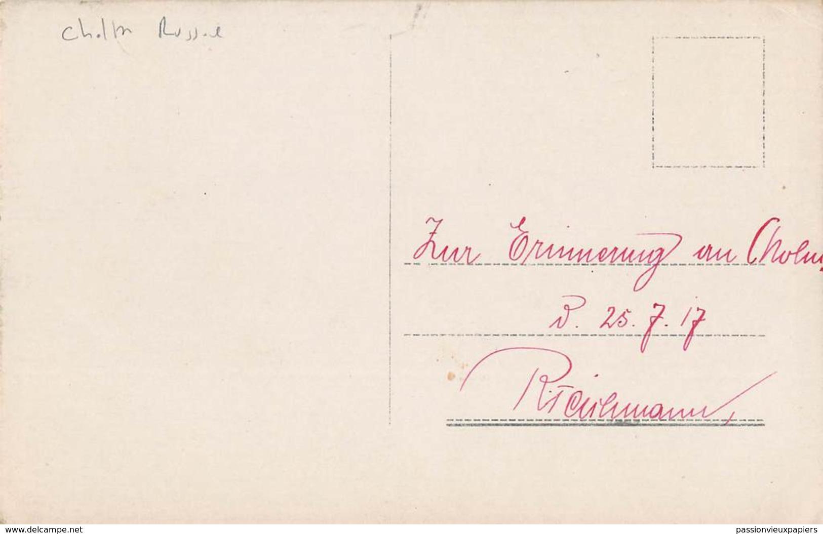 CARTE PHOTO ALLEMANDE  CHOLM 1917 VERWALTUNGS-GEBAUDE - Russland