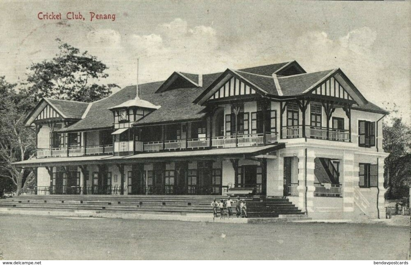 Malay Malaysia, PENANG, Cricket Club (1910) Postcard - Malaysia