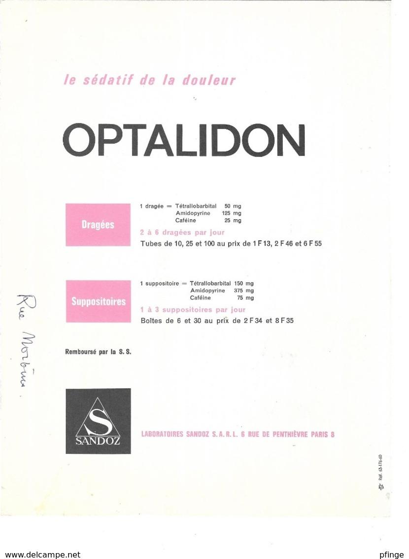 G. A. Klein : Rue Norvins - Montmartre - Paris - Publicité Médicale Optalidon - Vieux Papiers