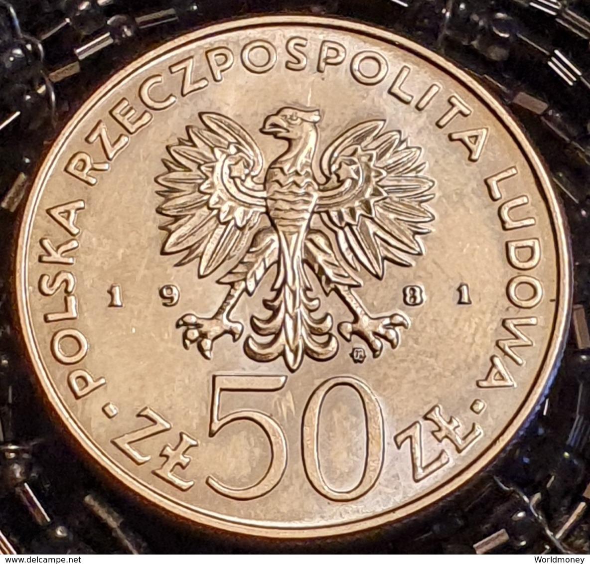"""Poland 50 Zlotych 1981 """"Boleslaw II Smialy""""  - UNC - Pologne"""