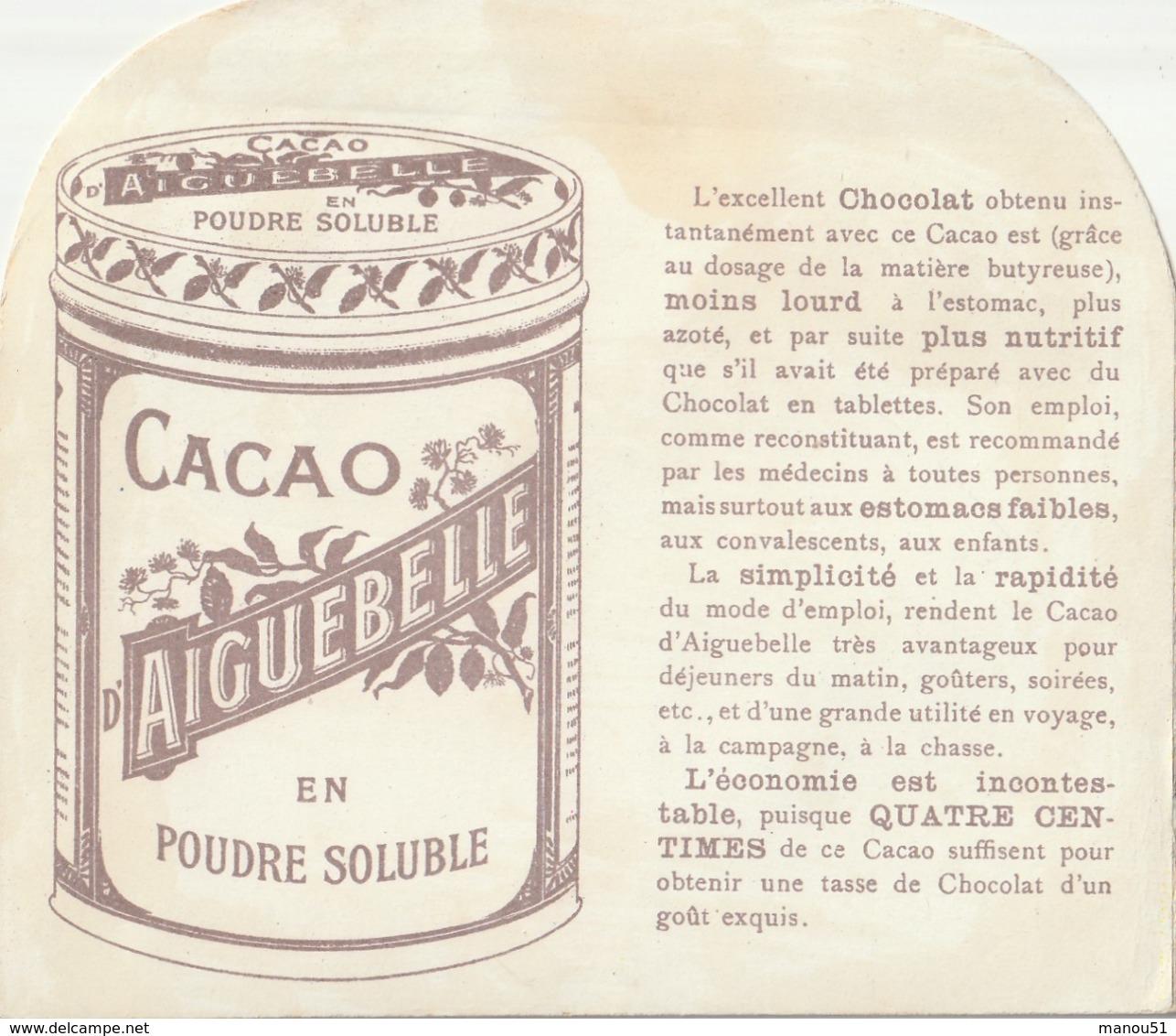 """Superbe CHROMOS à Système """" Chocolat D'Aiguebelle """"  L'arrivée Du Bateau - Aiguebelle"""