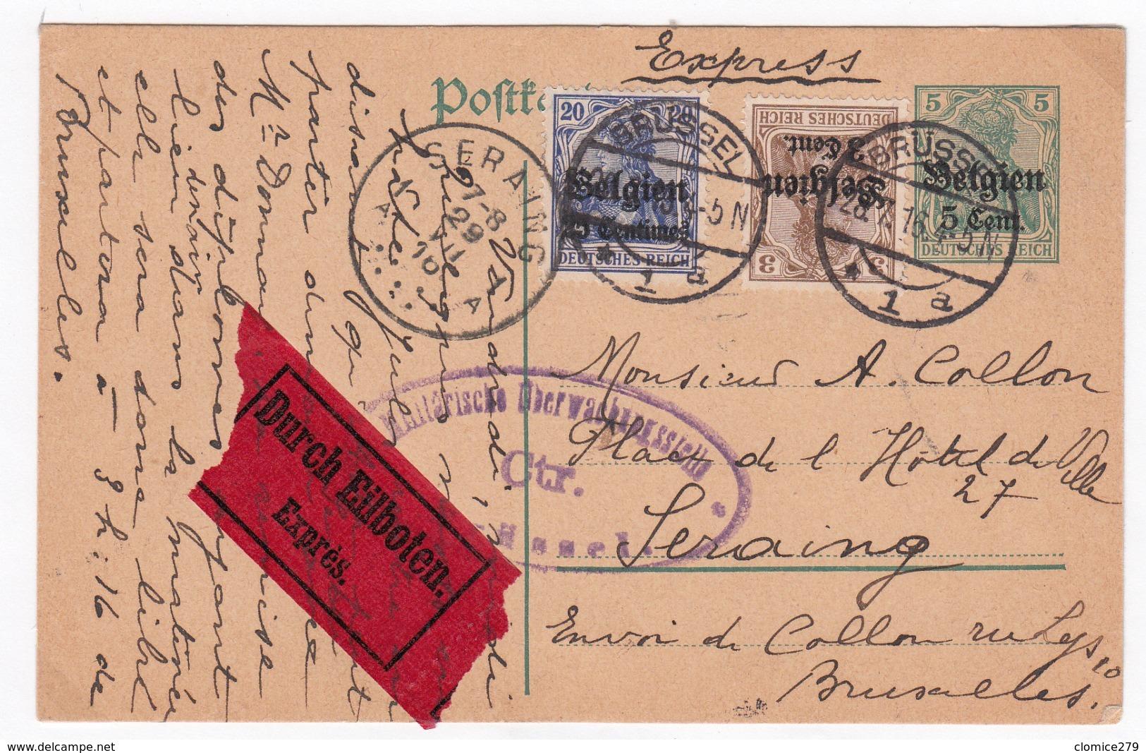 Guerre 1914/18   Carte Année        1916    Express - WW I