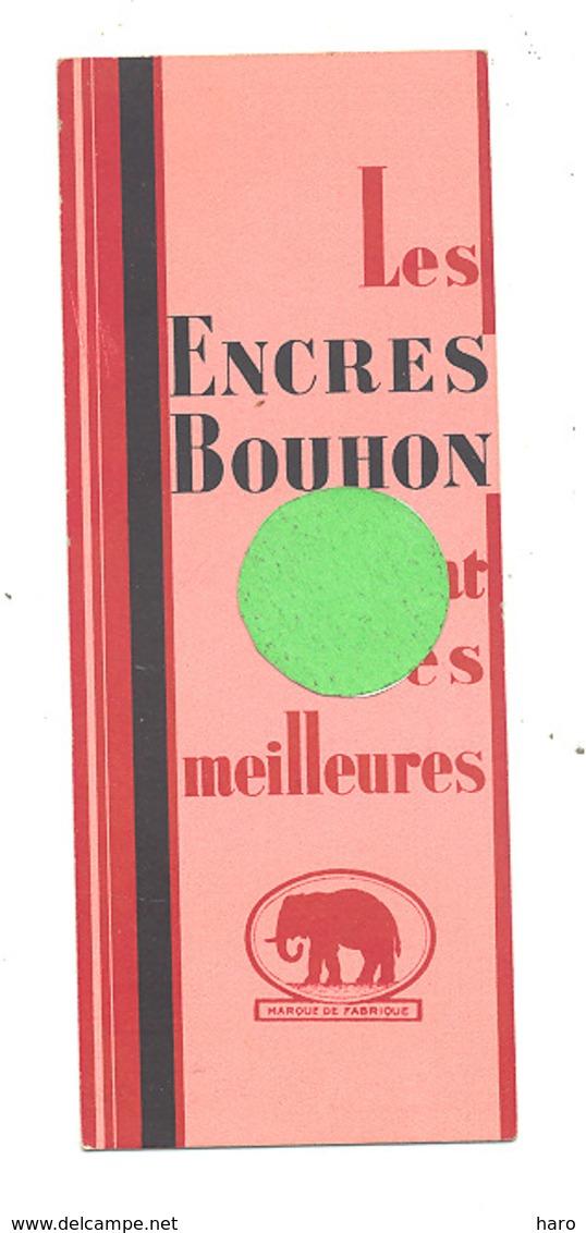 Marque-pages Publicitaire - Encres BOUHON - Librairie CASTAGNE à Bruxelles (B260) - Marque-Pages