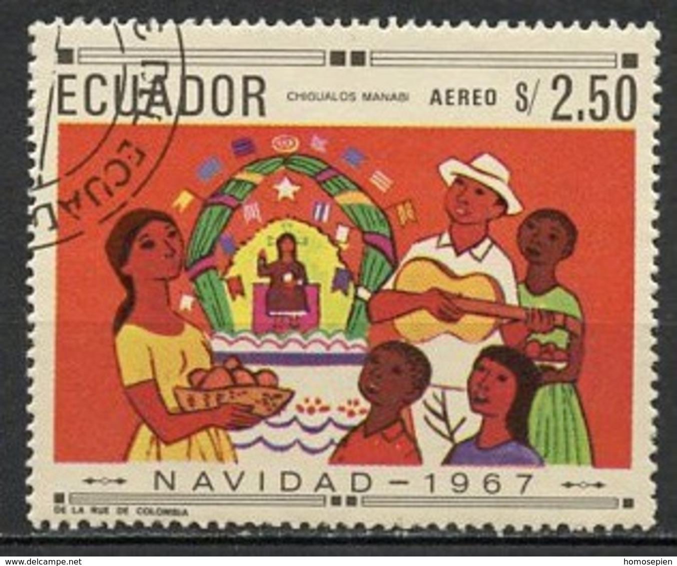 Equateur - Ecuador Poste Aérienne 1967 Y&T N°PA494A - Michel N°1397 (o) - 2,50s Noël - Equateur