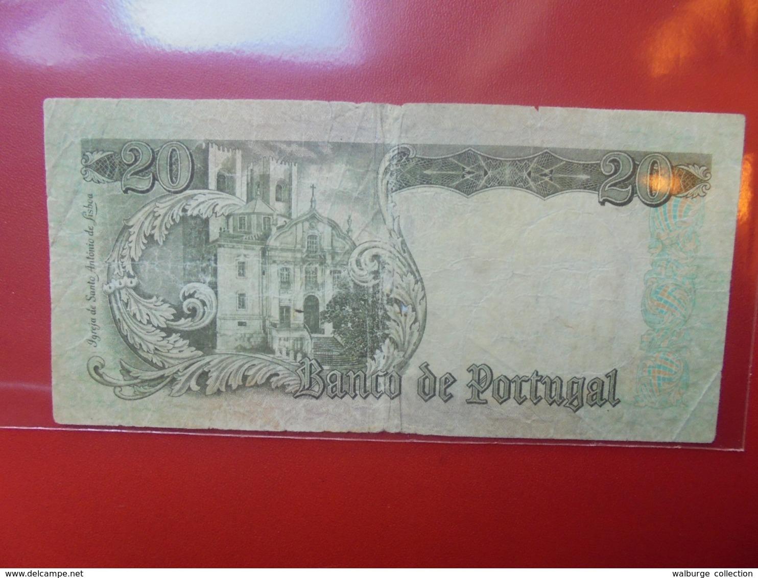 PORTUGAL 20 ESCUDOS 1964 CIRCULER (B.7) - Portugal