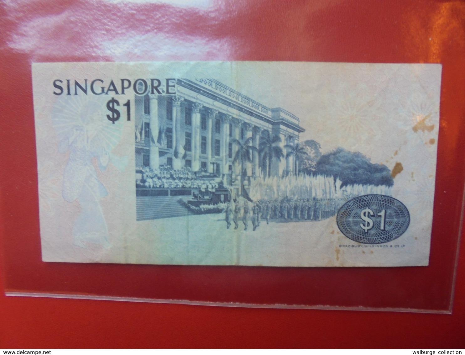 SINGAPOUR 1$ 1976 CIRCULER  (B.7) - Singapore