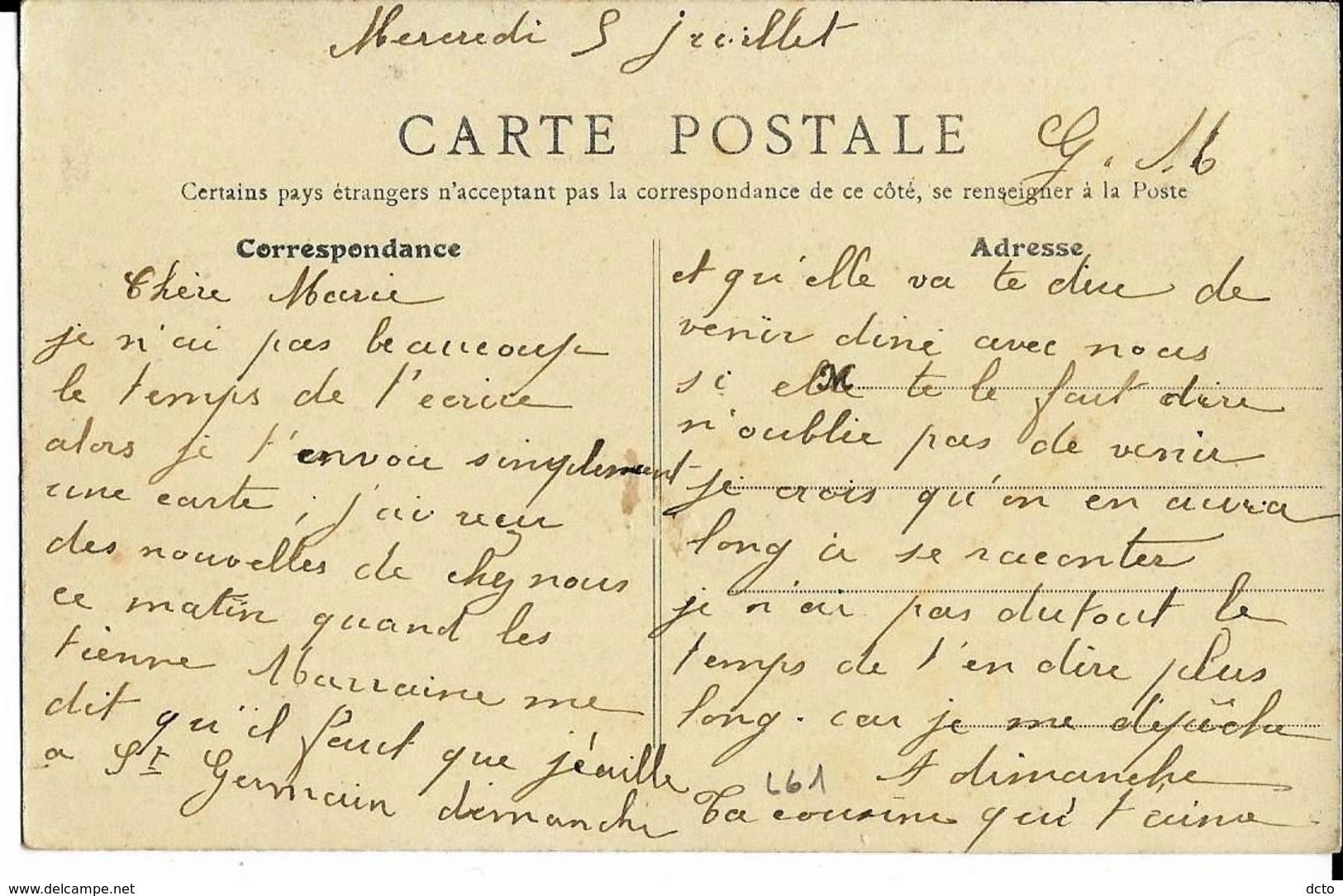 LONS-le-SAUNIER Rue Sébile Banque H. Pitolet Et G. Rigaud Ed. B.F. 1904 - Lons Le Saunier