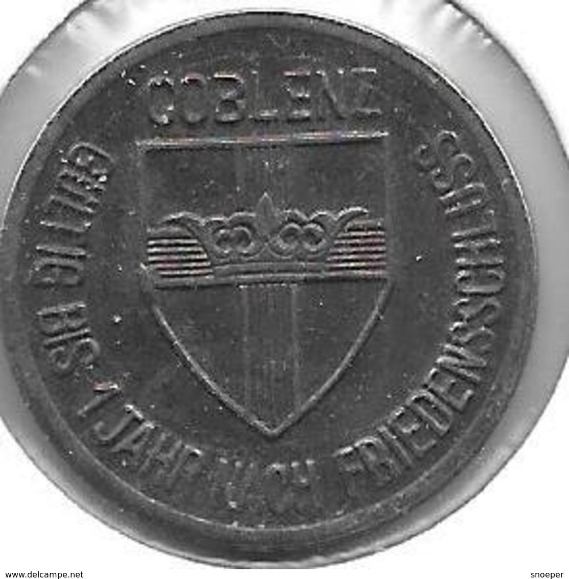 *notgeld Coblenz 25 Pfennig 1918 Fe  2512.4 /F80.2c - Autres