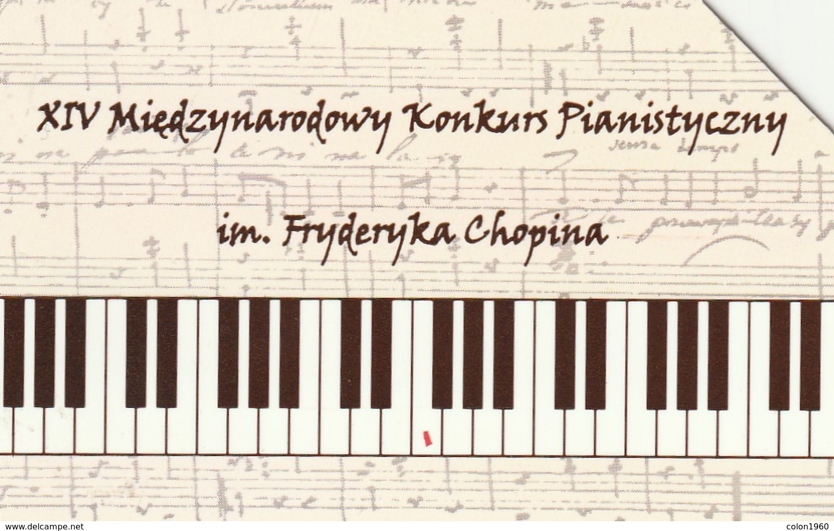 POLONIA. IV International Pianist Contest Of F.Chopin. 25U. 961. (213) - Musik
