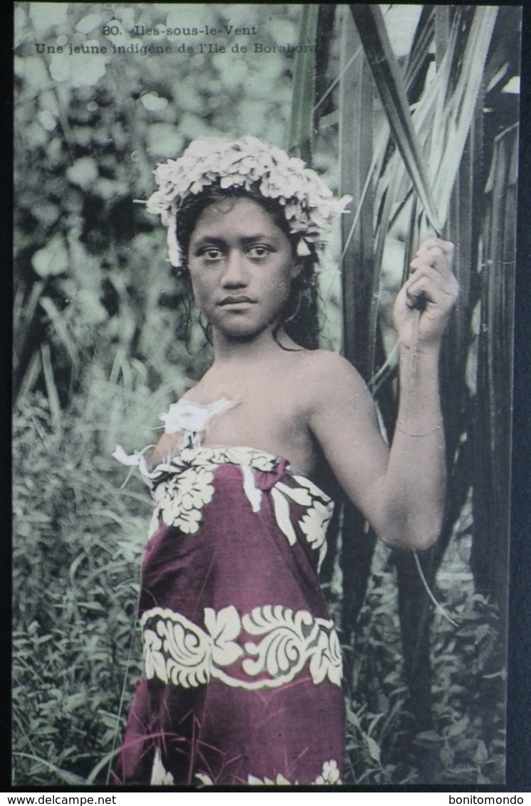Tahiti Postcard. 30. Une Jeune Indigene De Ile De Borabora. (Iles-sous-le-vent) - Tahiti