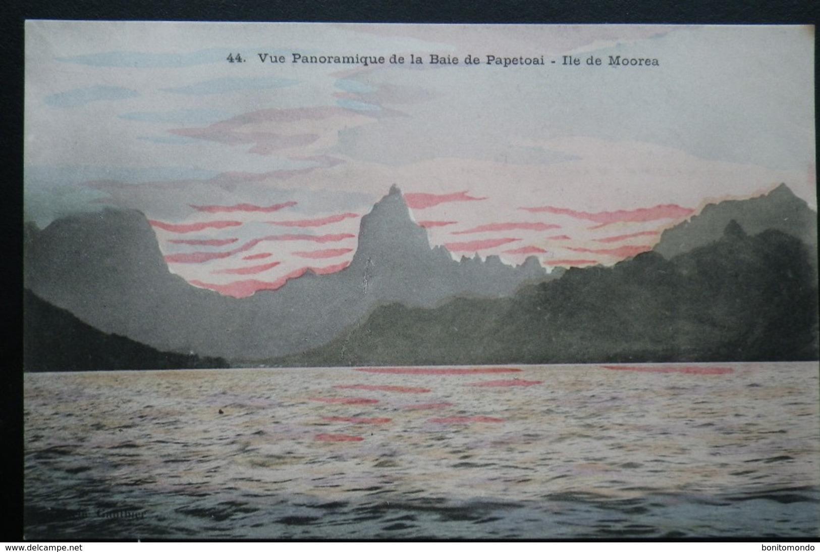 Tahiti Postcard. 44. Vue Panoramique De La Baie De Papetoai, Ile De Moorea - Tahiti