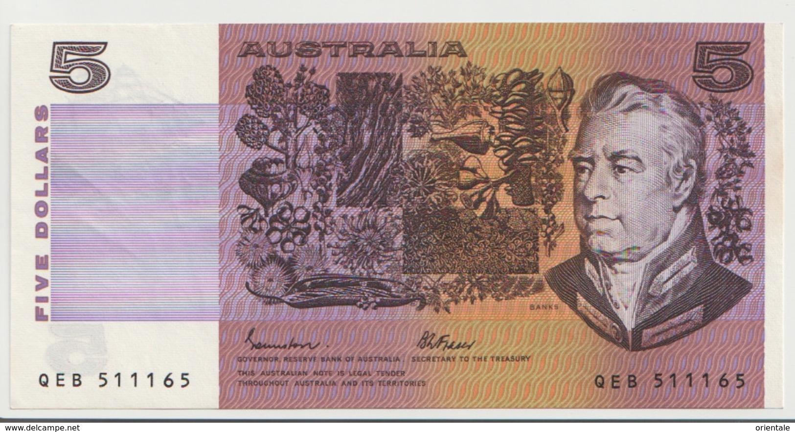AUSTRALIA P. 44e 5 D 1980 AUNC - Decimal Government Issues 1966-...