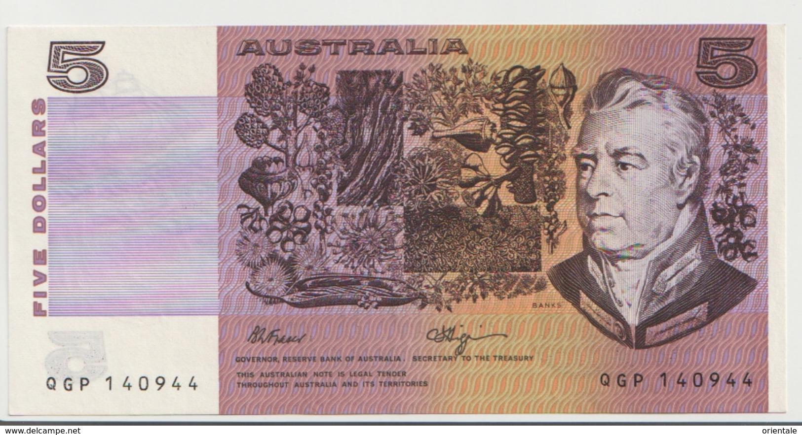 AUSTRALIA P. 44f 5 D 1980 AUNC - 1974-94 Australia Reserve Bank