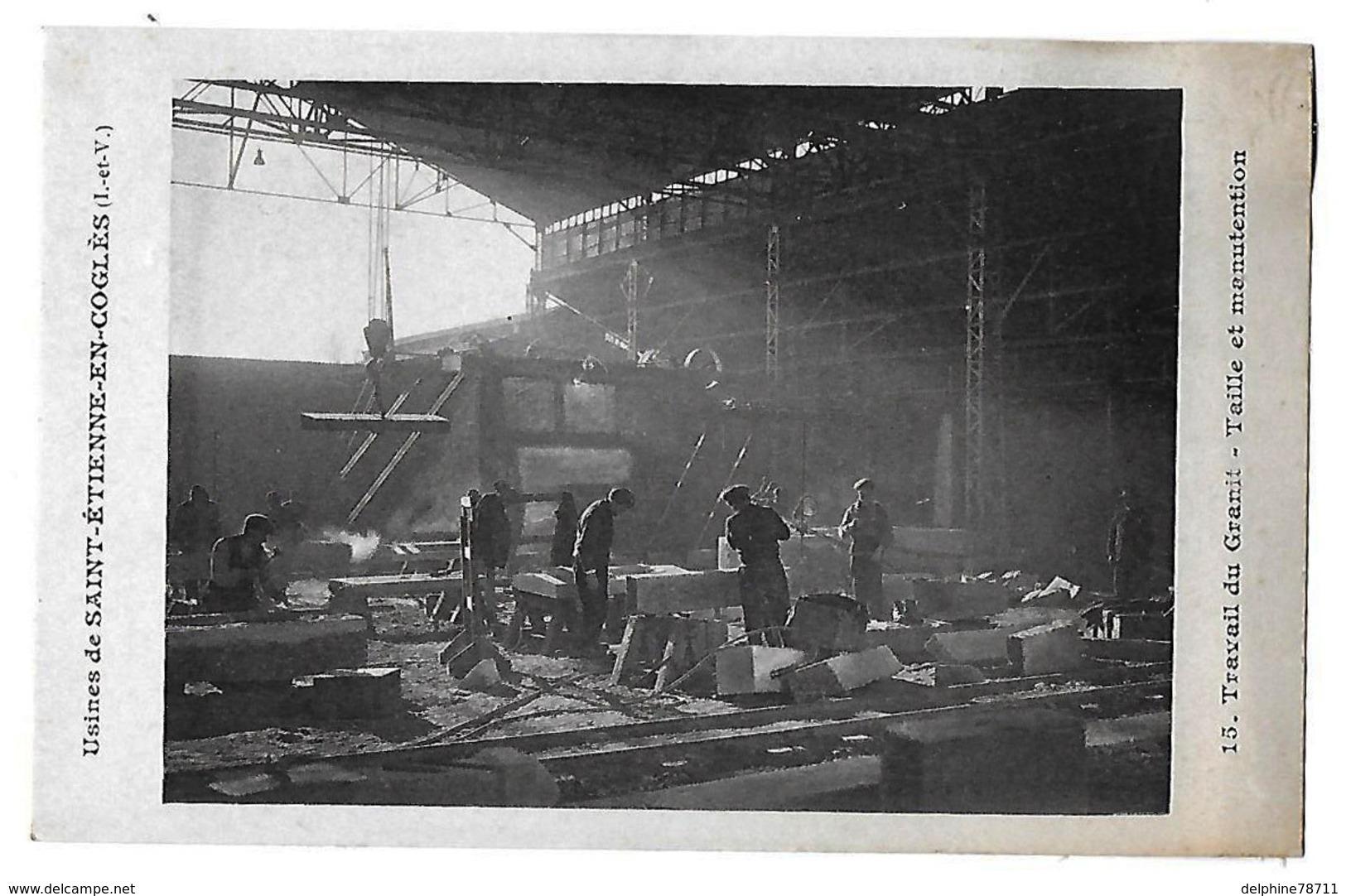 Saint Etienne En Cogles     Travail Du Granit- Taille Et Manutention - France