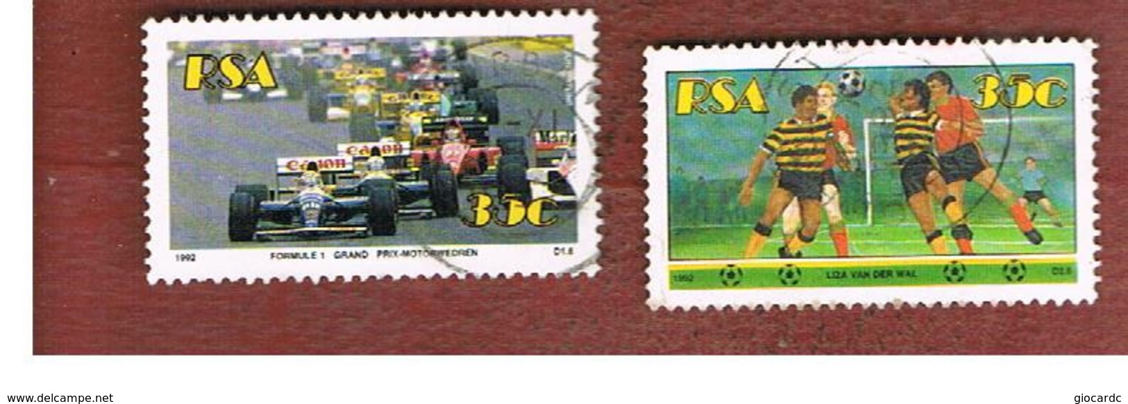 SUD AFRICA (SOUTH AFRICA) - SG 760.761 - 1992   SPORTS  - USED - Usati