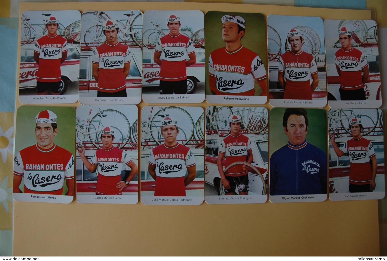 CYCLISME: CYCLISTE : 12 CARTES LA CASERA 1972 - Ciclismo
