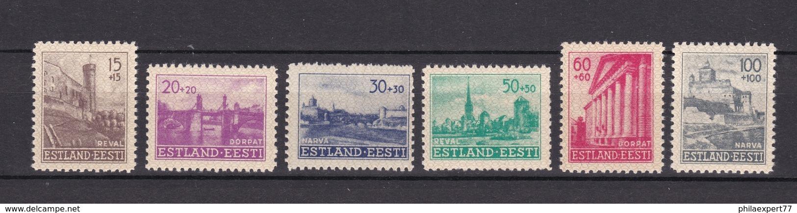Estland - 1941 - Michel Nr. 4/9 - Postfrisch - Occupation 1938-45