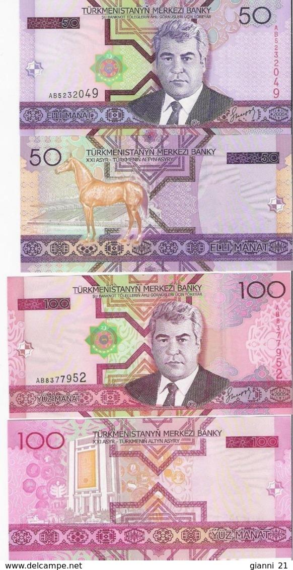 TURKMENISTAN - 50+100 Manat 2005 {Pcs.2 Set} UNC P.17 + 18 - Turkménistan