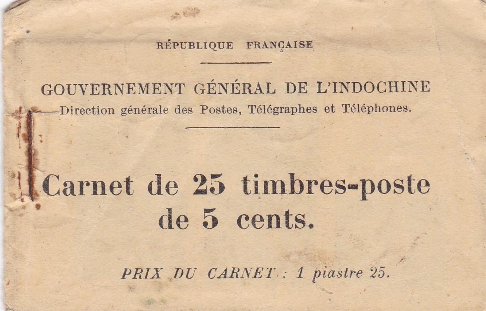 INDOCHINE  CARNET  INCOMPLET  AVEC  4  FEUILLETS  (  Sur  5 )  Des  159  Et  159 B **  .  RARE - Indochina (1889-1945)