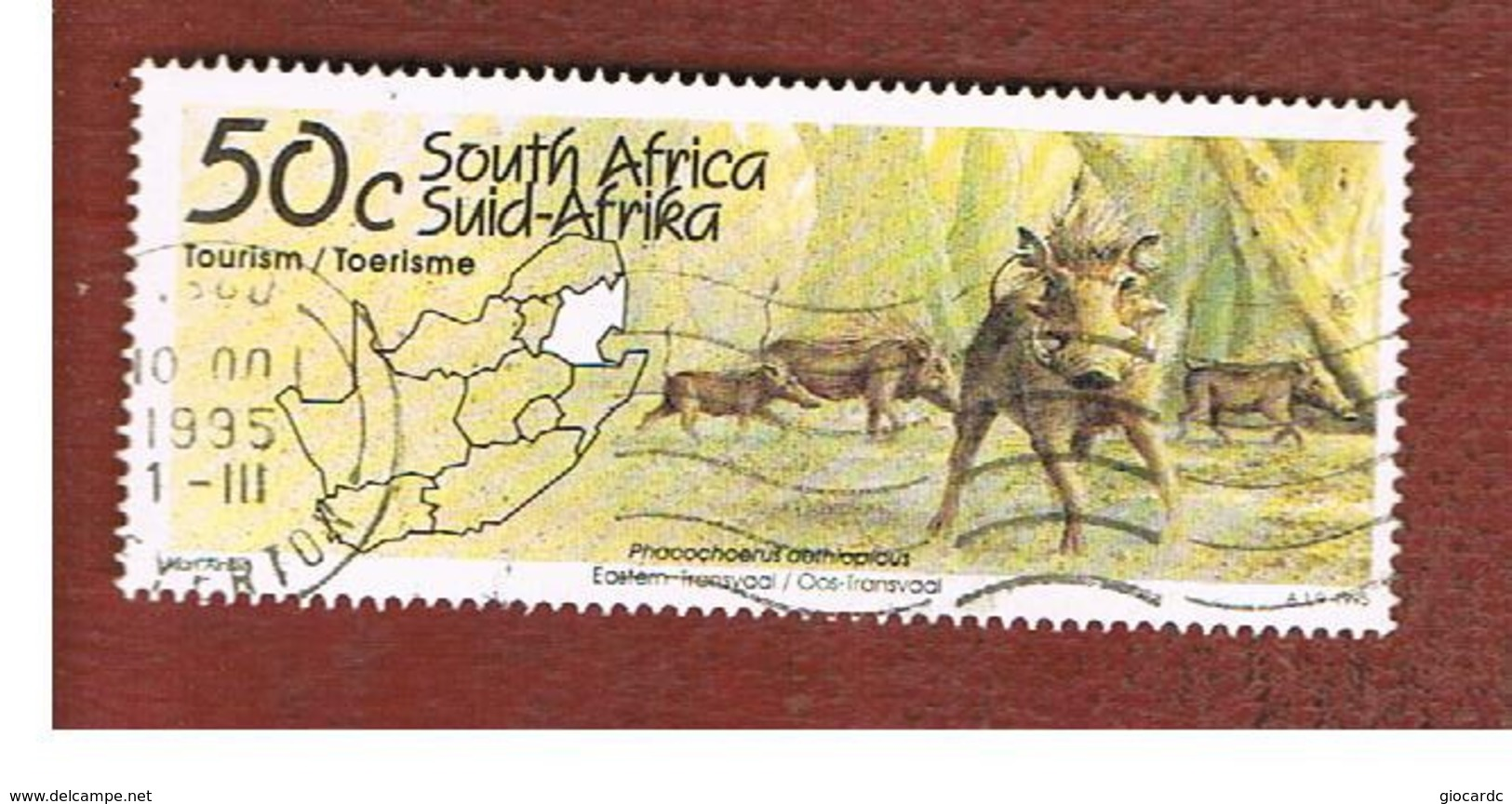 SUD AFRICA (SOUTH AFRICA) - SG 864 - 1995 TOURISM: TRANSVAAL (WARTHOG)      - USED - Sud Africa (1961-...)