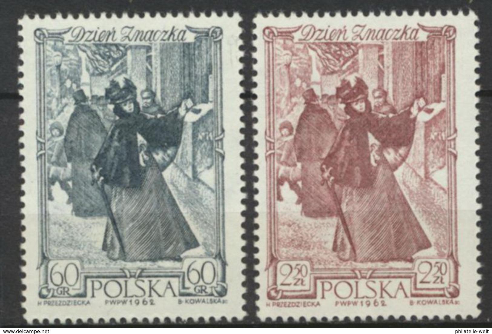 Polen 1353/54 ** Postfrisch Tag Der Briefmarke - 1944-.... Republik