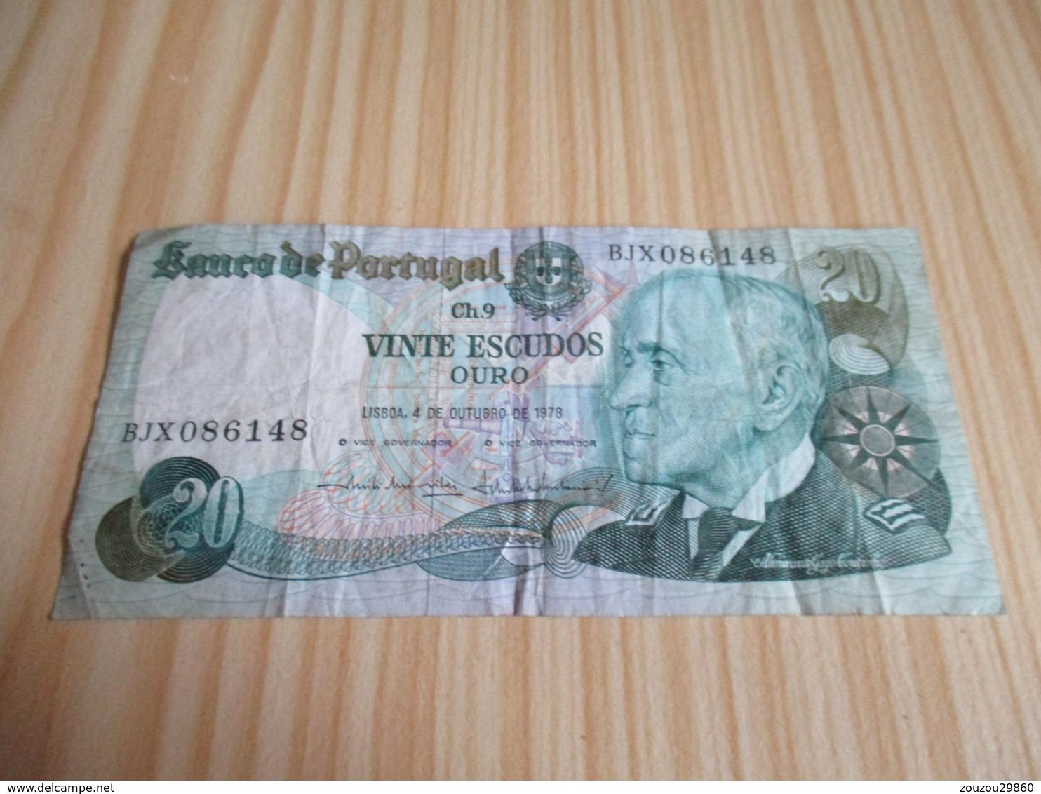 Portugal.Billet 20 Escudos 04/10/1978. - Portugal