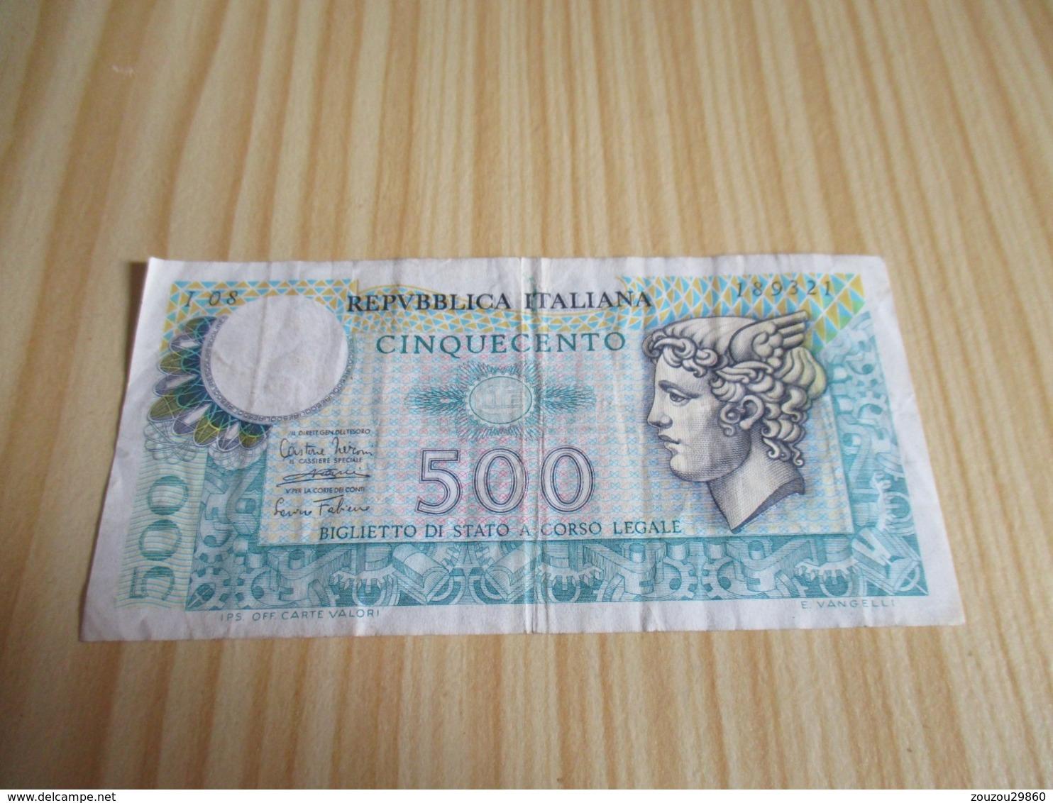 Italie.Billet 500 Lires. - 500 Lire
