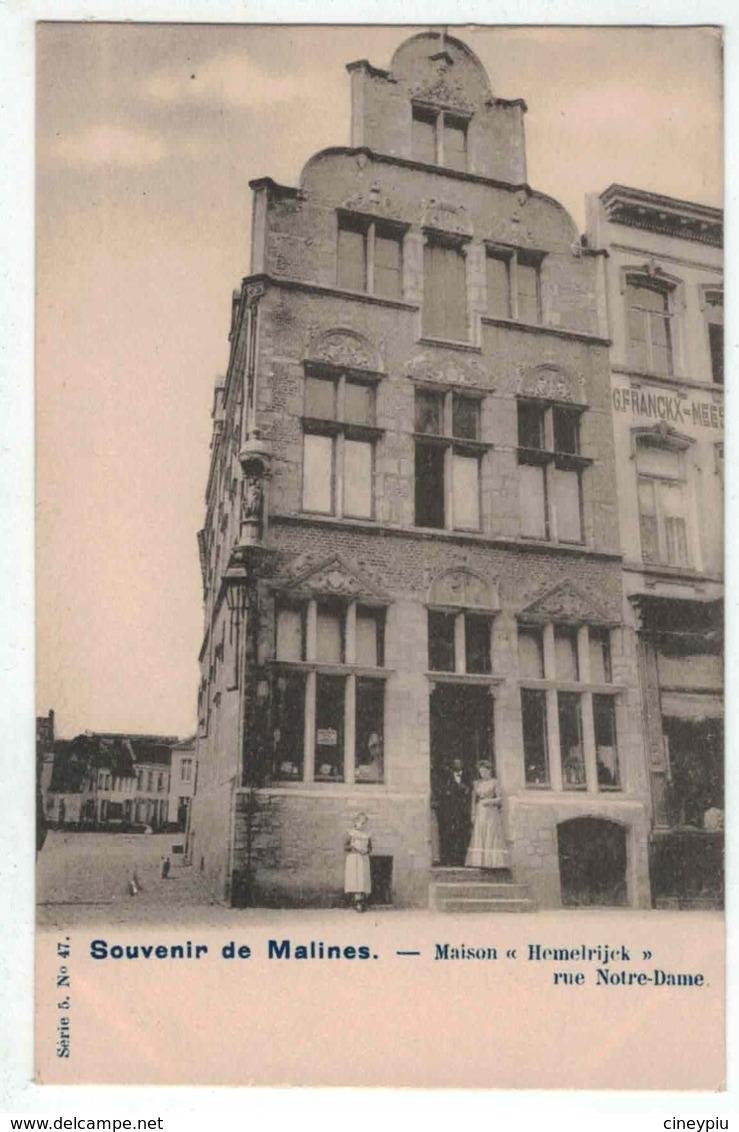 Souvenir De Malines - Maison Hemelrijk Rue Notre Dame - Vanderauwera & Cie Série 5 N°47 - Mechelen