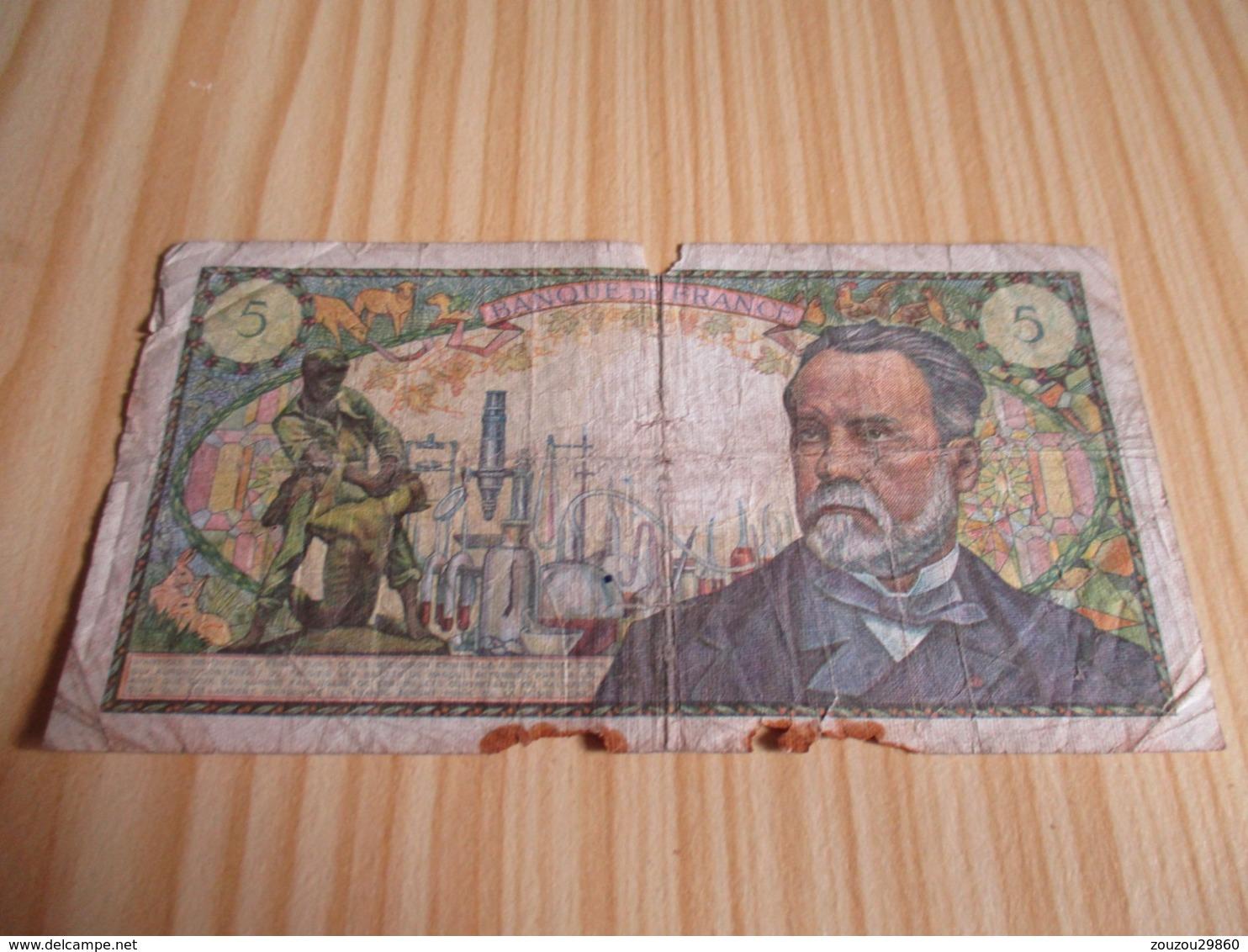 France.Billet 5 Francs Pasteur 07/07/1966. - 5 F 1966-1970 ''Pasteur''
