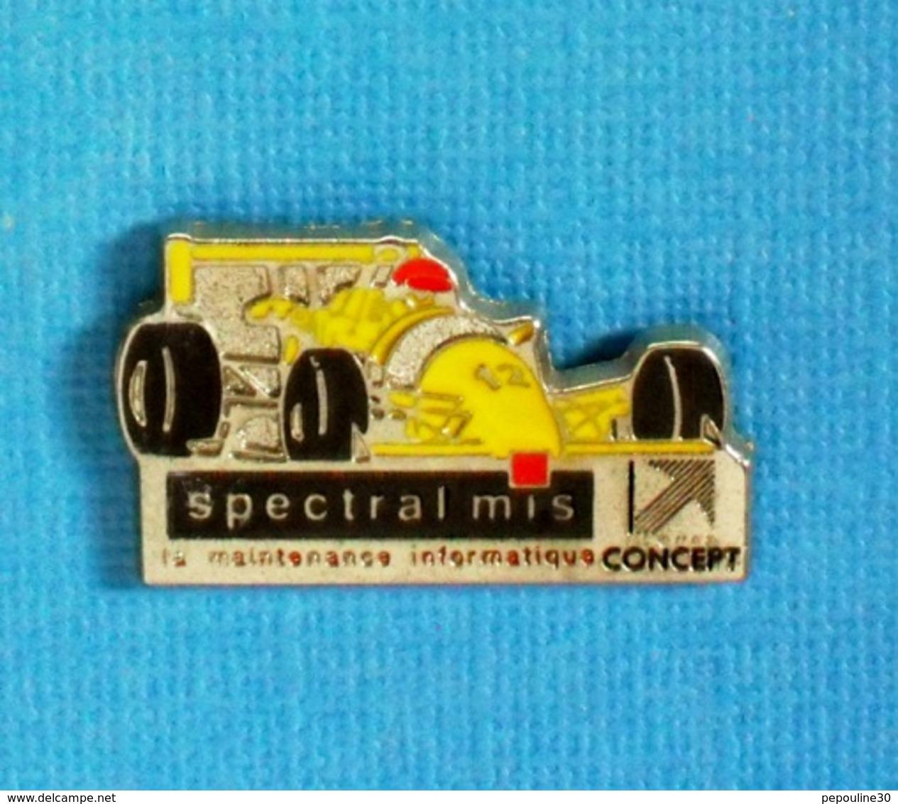 1 PIN'S //   ** F3000 / SPECTRAL MIS / MAINTENANCE INFORMATIQUE / GROUPE CONCEPT ** . (ELix/R) ** - Informatique