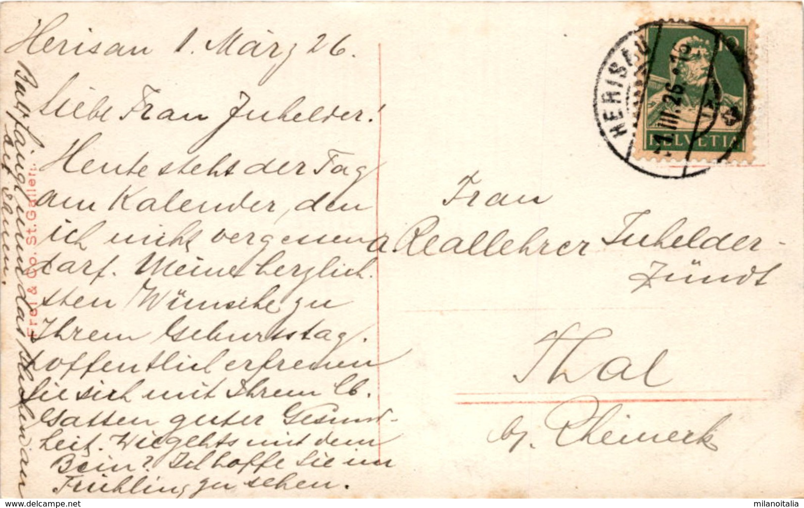 Säntiskette V. Beieregg (2130) * 1. 3. 1926 - AI Appenzell Innerrhoden