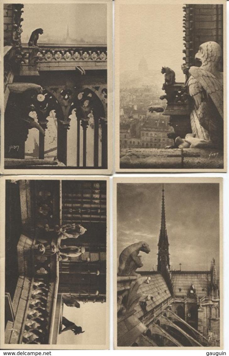 CPA - PARIS - N.DAME - LES GARGOUILLES & CHIMERES... - Lot De 8 Vues - Edition Yvon - Notre Dame De Paris