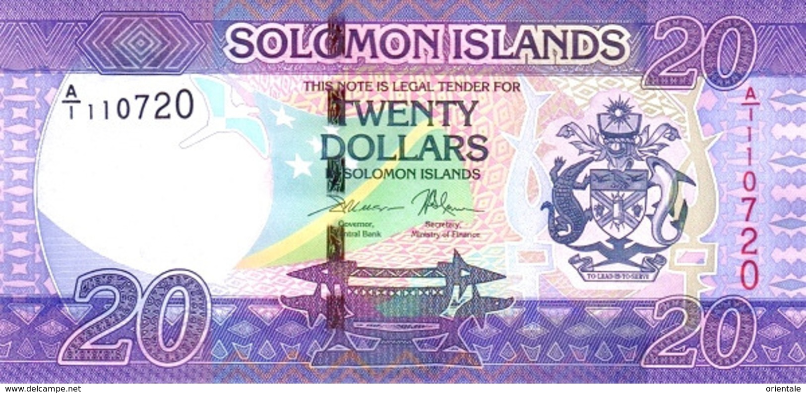 SOLOMON ISLANDS P. 34 20 D 2017 UNC - Solomon Islands