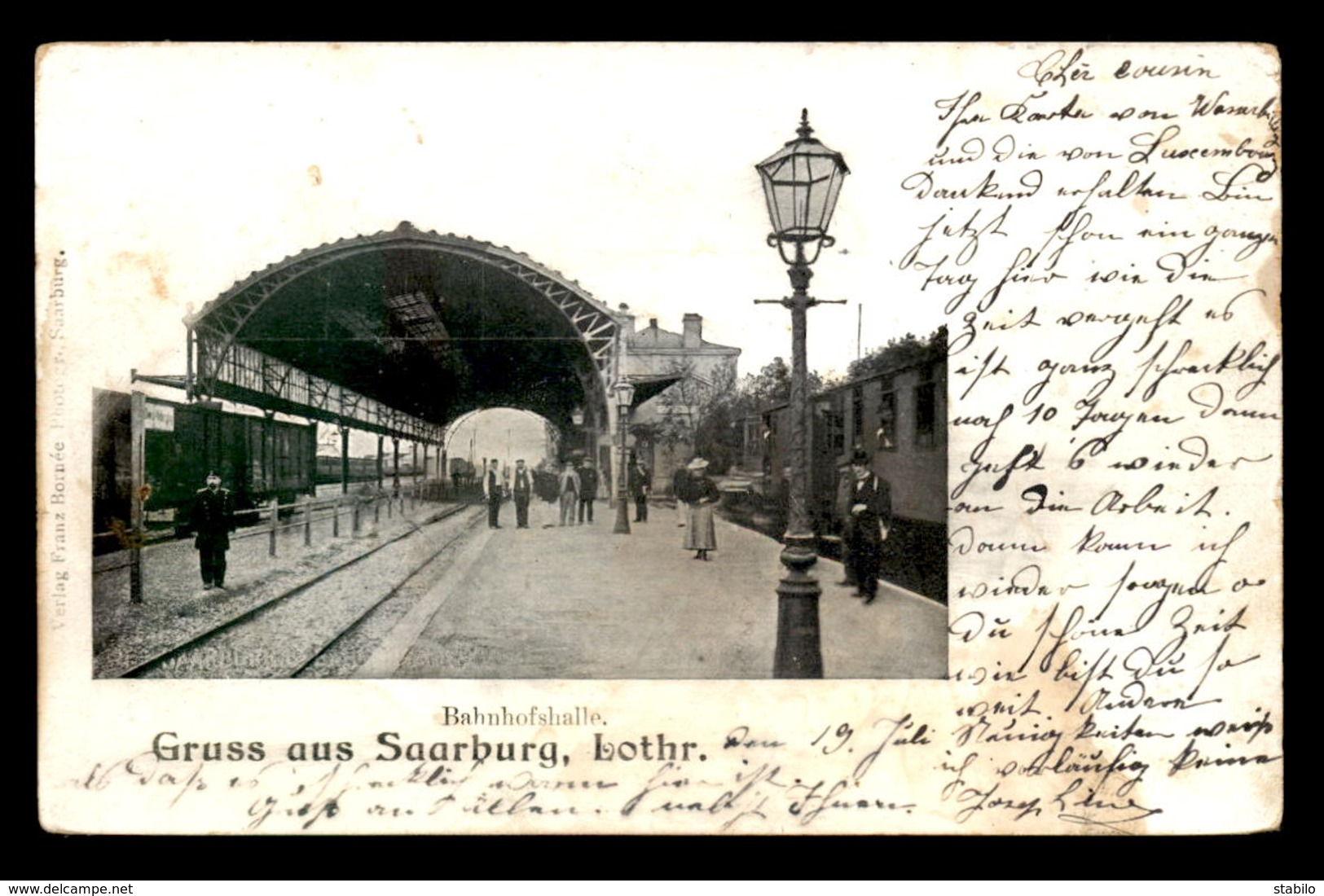 57 - SARREBOURG - SAARBURG -INTERIEUR DE LA GARE DE CHEMIN DE FER - Sarrebourg