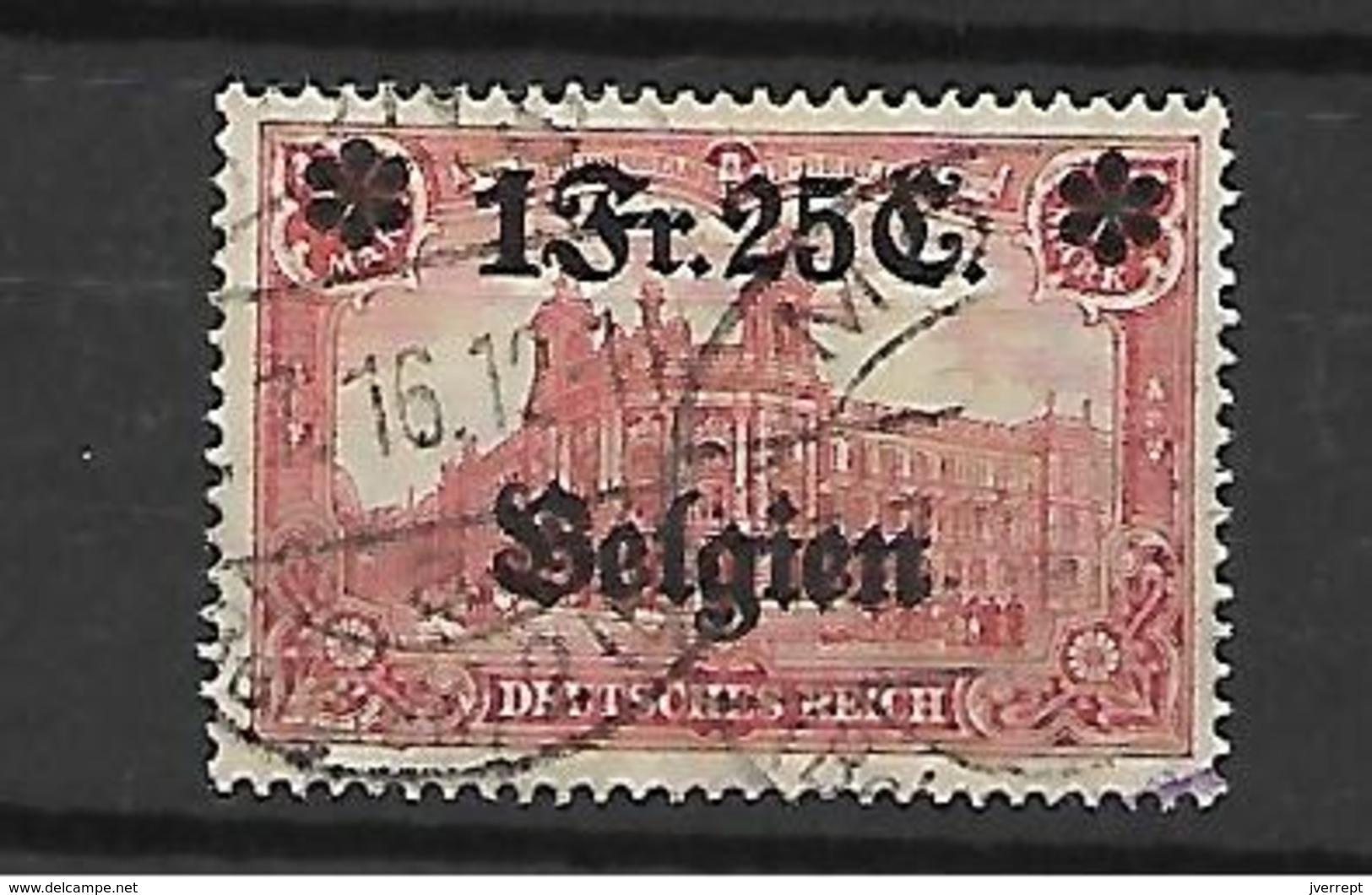 België TBezetting  N° 8 Cote 55 Euro - [OC1/25] Gen.reg.