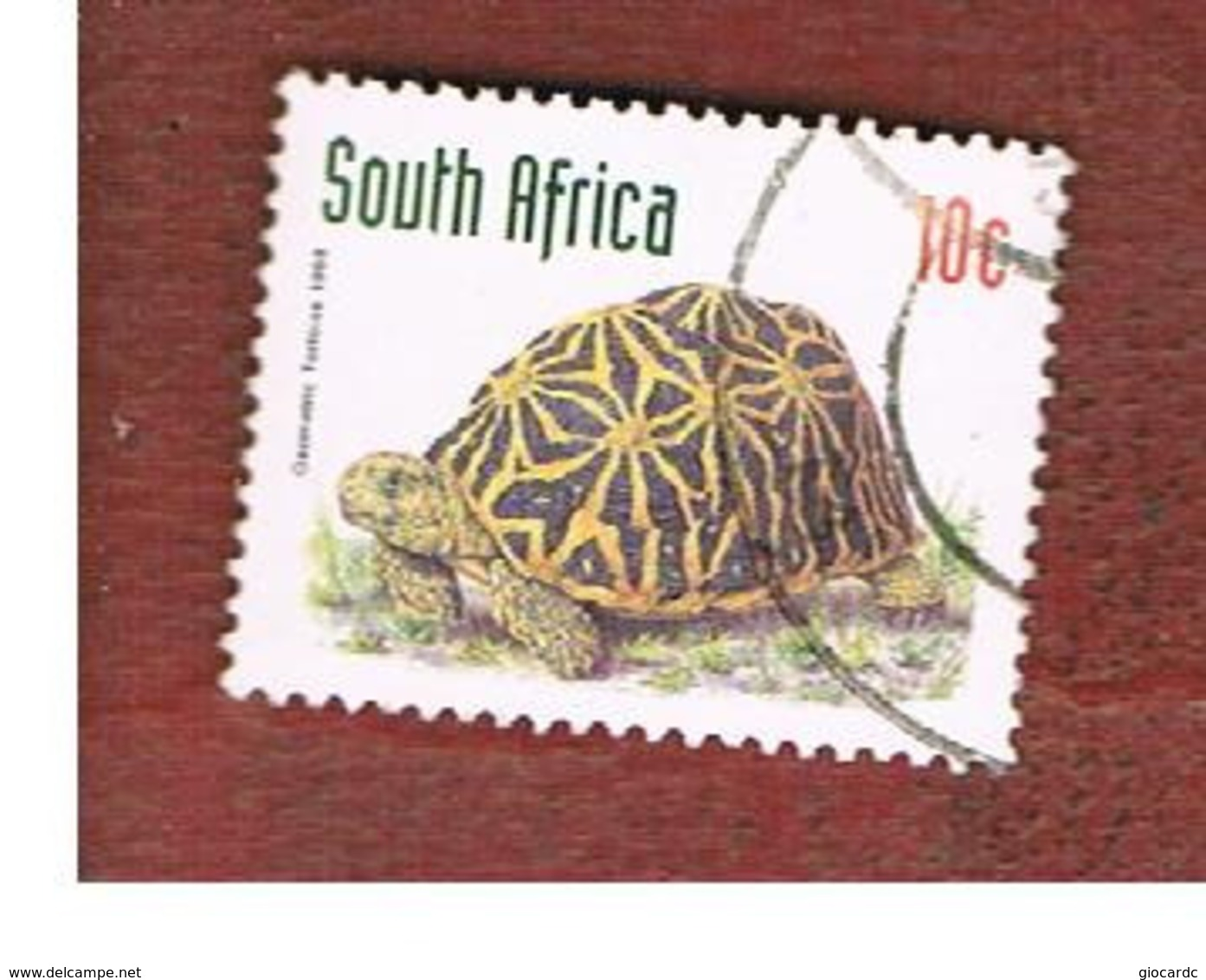 SUD AFRICA (SOUTH AFRICA) - SG 1013 - 1997 ENDANGERED ANIMALS: GEOMETRIC TORTOISE  - USED - Sud Africa (1961-...)