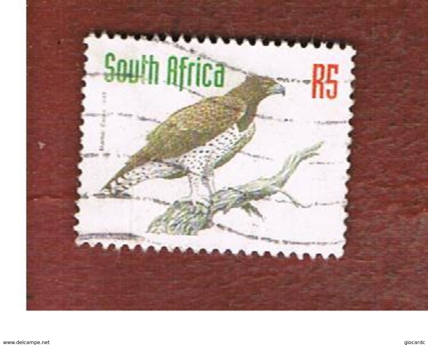 SUD AFRICA (SOUTH AFRICA) - SG 1025 - 1998 ENDANGERED ANIMALS: MARTIAL EAGLE - USED - Sud Africa (1961-...)
