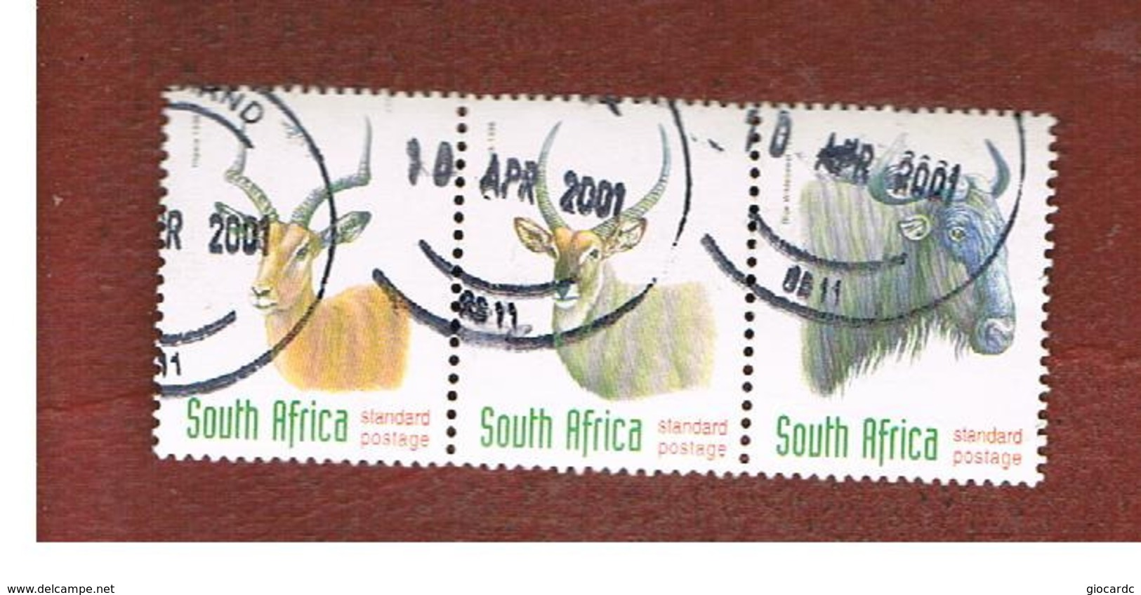 SUD AFRICA (SOUTH AFRICA) - SG 1032.1034 - 1998 ENDANGERED ANIMALS  (3 STAMPS SE-TENANT) - USED - Sud Africa (1961-...)