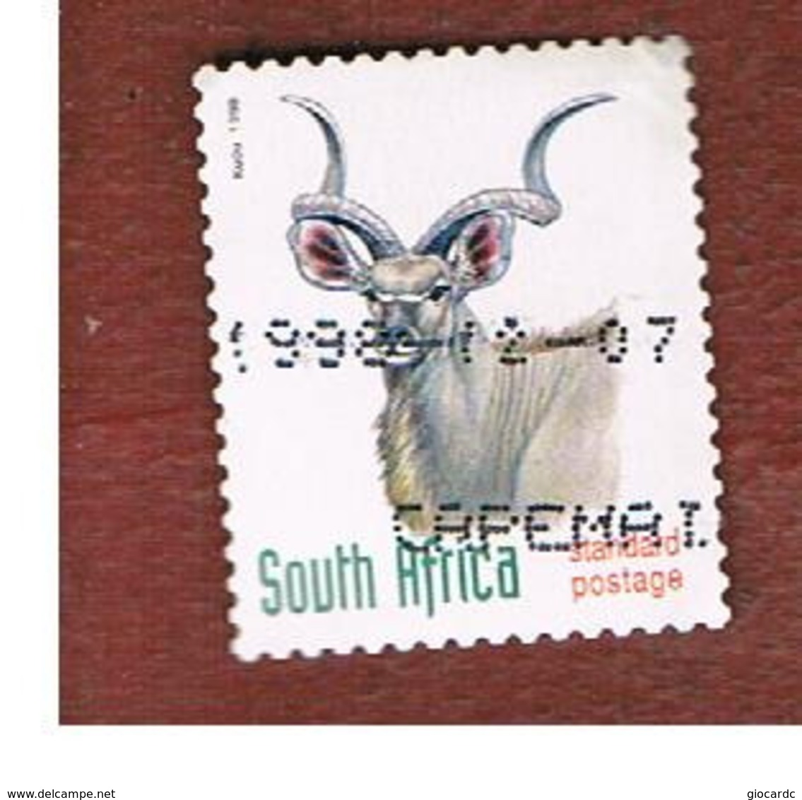SUD AFRICA (SOUTH AFRICA) - SG 1076 - 1998 ENDANGERED ANIMALS: KUDU  (SELF-ADHESIVE) - USED - Sud Africa (1961-...)