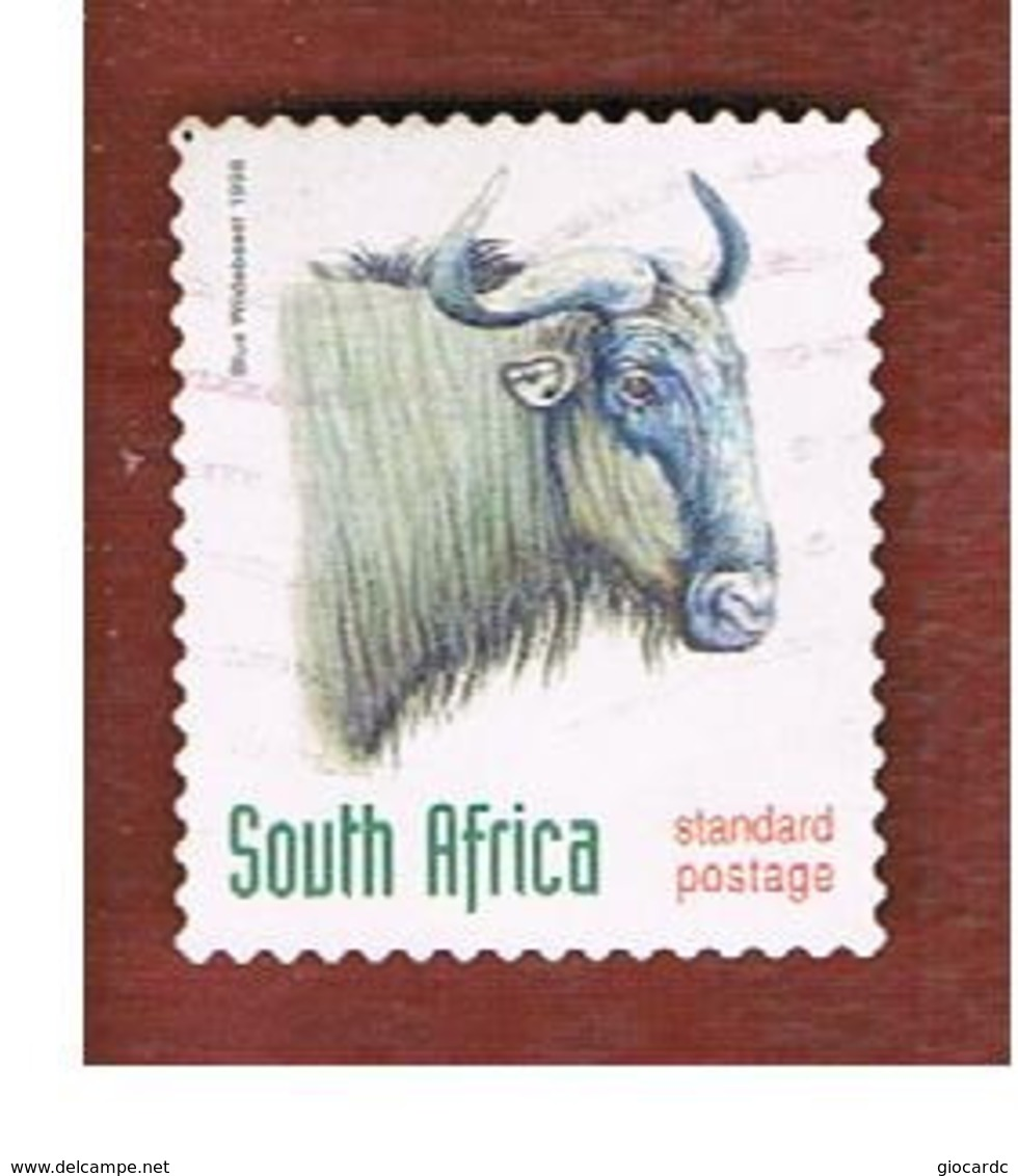 SUD AFRICA (SOUTH AFRICA) - SG 1079 - 1998 ENDANGERED ANIMALS: BLUE WILDBEEST  (SELF-ADHESIVE) - USED - Usati