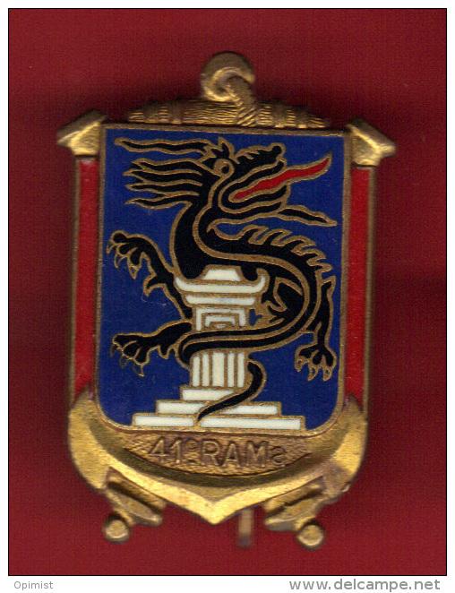 28550-Broche.Insigne Militaire.Armée.41 Em Rama.dragon.ancre.signé Drago Paris.01884. - Militaria