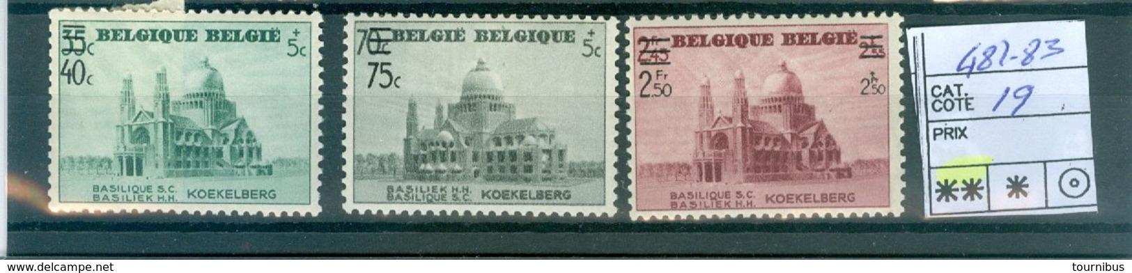 481-483  Xx  COB 19.00€ - Belgien