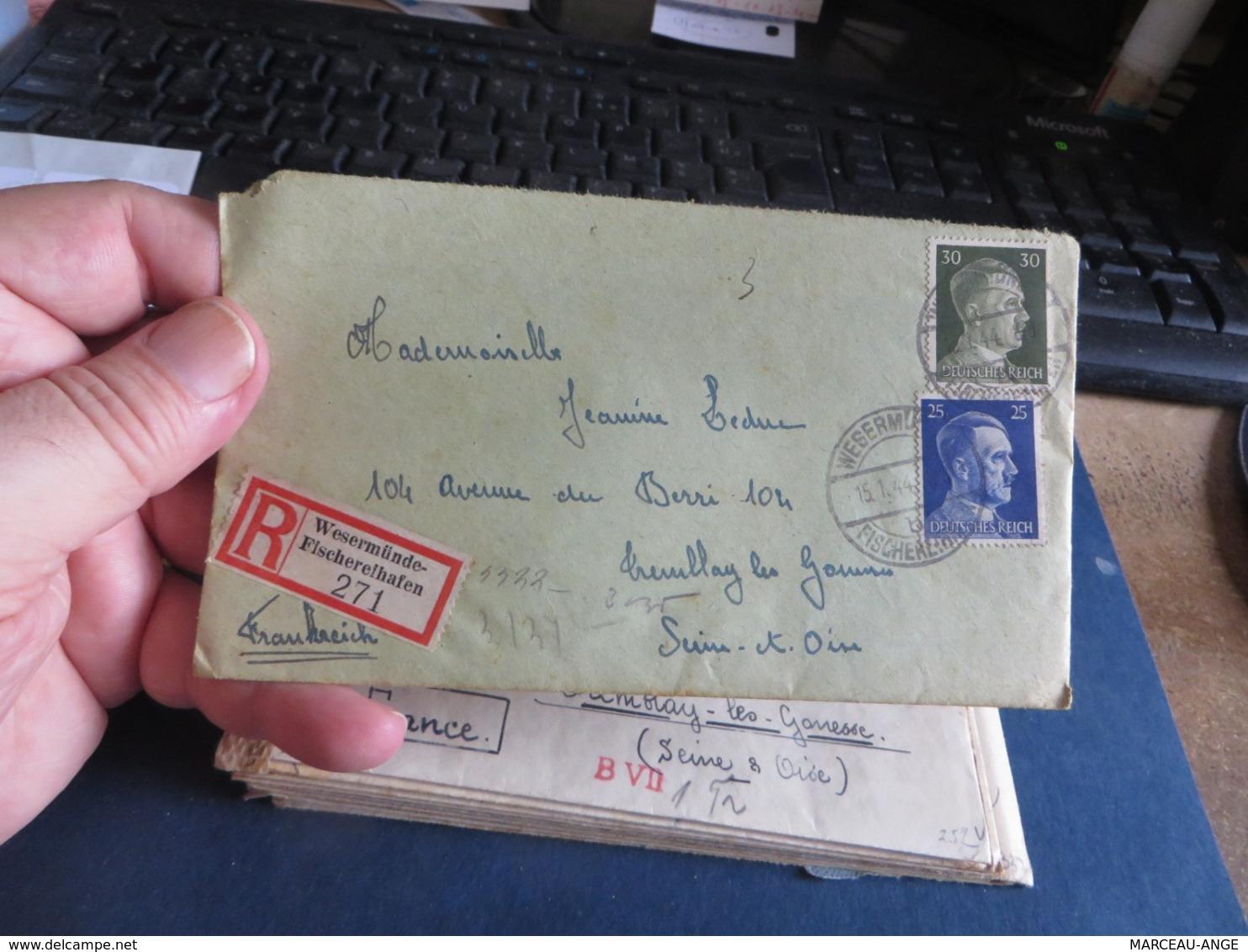 LOT D'ENVIRON 10 Lettres De CENSURE 1939/1945 Et Assimilées Guerre ,certaines Avec Contenue - Militaria