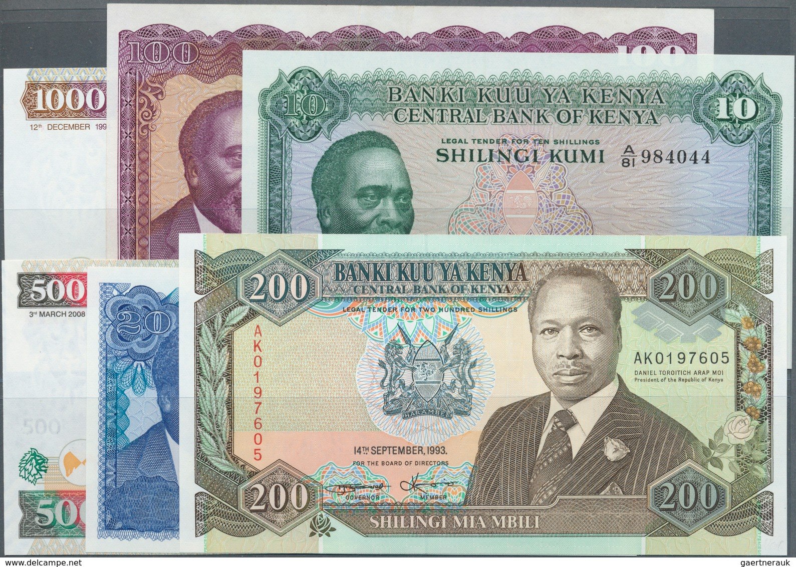 Kenya / Kenia: Large Lot Of About 600 Notes Containing The Following Pick Numbers In Different Quali - Kenya