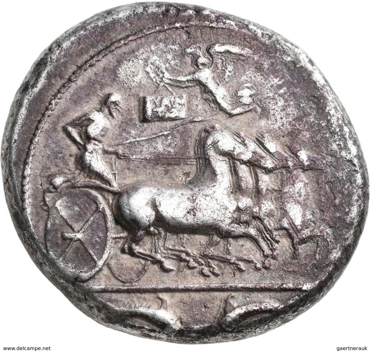 Sizilien - Städte: Siracusa: AR-Tetradrachme, Ca. 485-425 V. Chr., 16,71 G, Sehr Schön. - Grecques