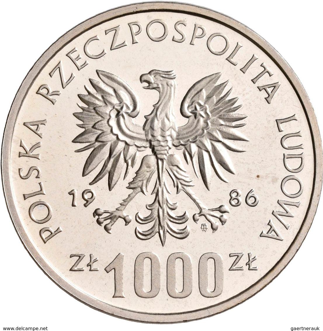 Polen: 1000 Zlotych 1986 PROBA: Wladyslaw I. Lokietek. 1320-1333, KM# PR 546, Fischer P 327. Lose, L - Pologne