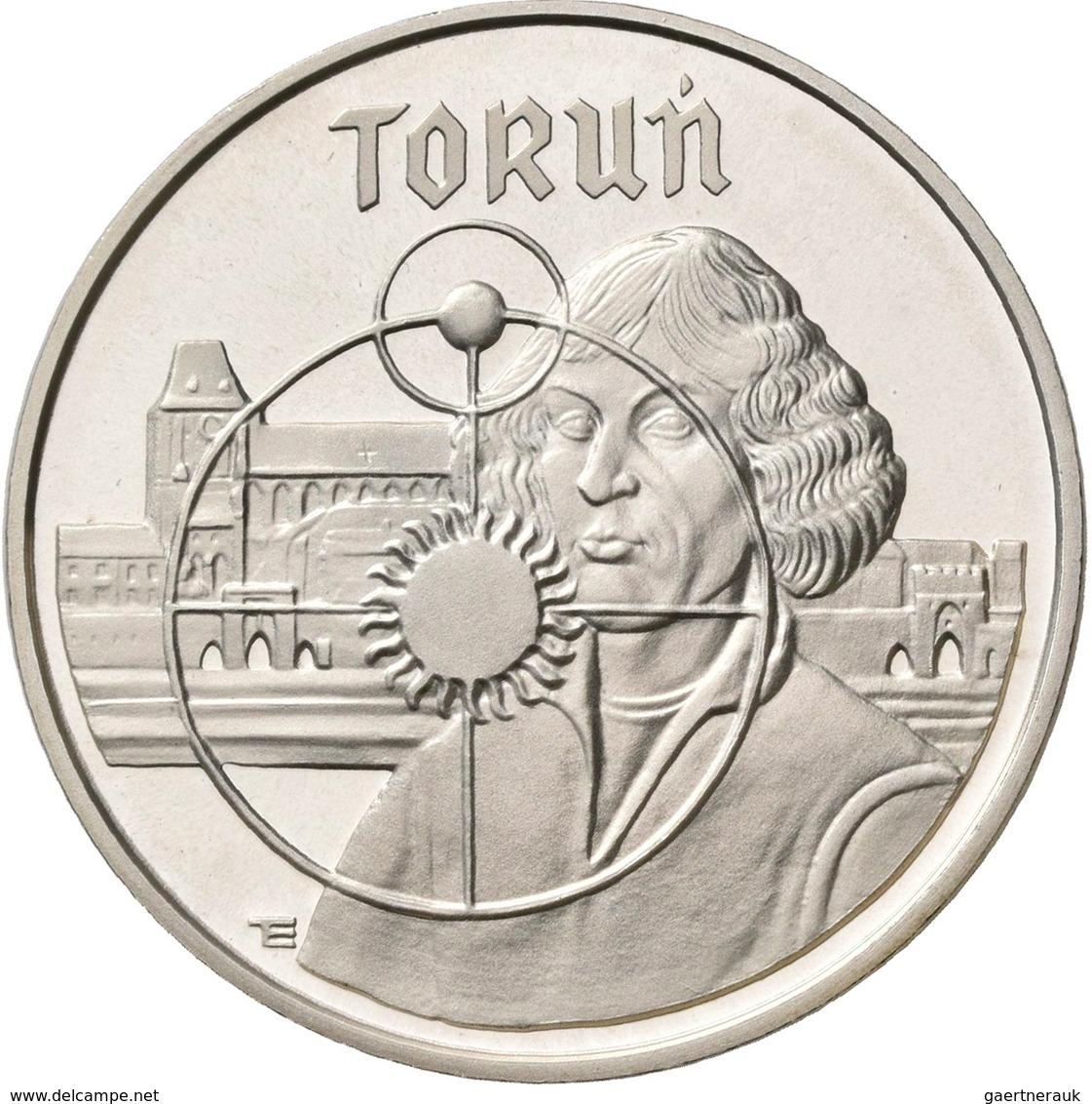 Polen: Lot 4 Münzen: 5.000 Zlotych 1989: Torun, KM# Y 191; Ratujemy Zabytki Torunia, KM# Y192; Henry - Pologne