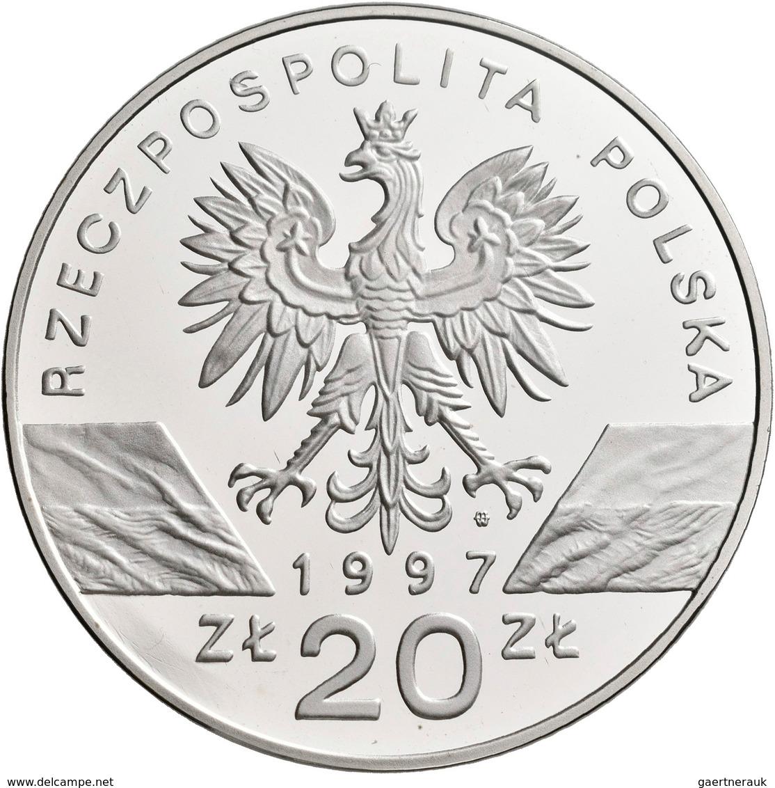 Polen: 20 Zlotych 1997, Hirschkäfer / Jelonek Rogacz / Lucanus Cervus, KM# Y 330, Fischer K (20) 013 - Pologne