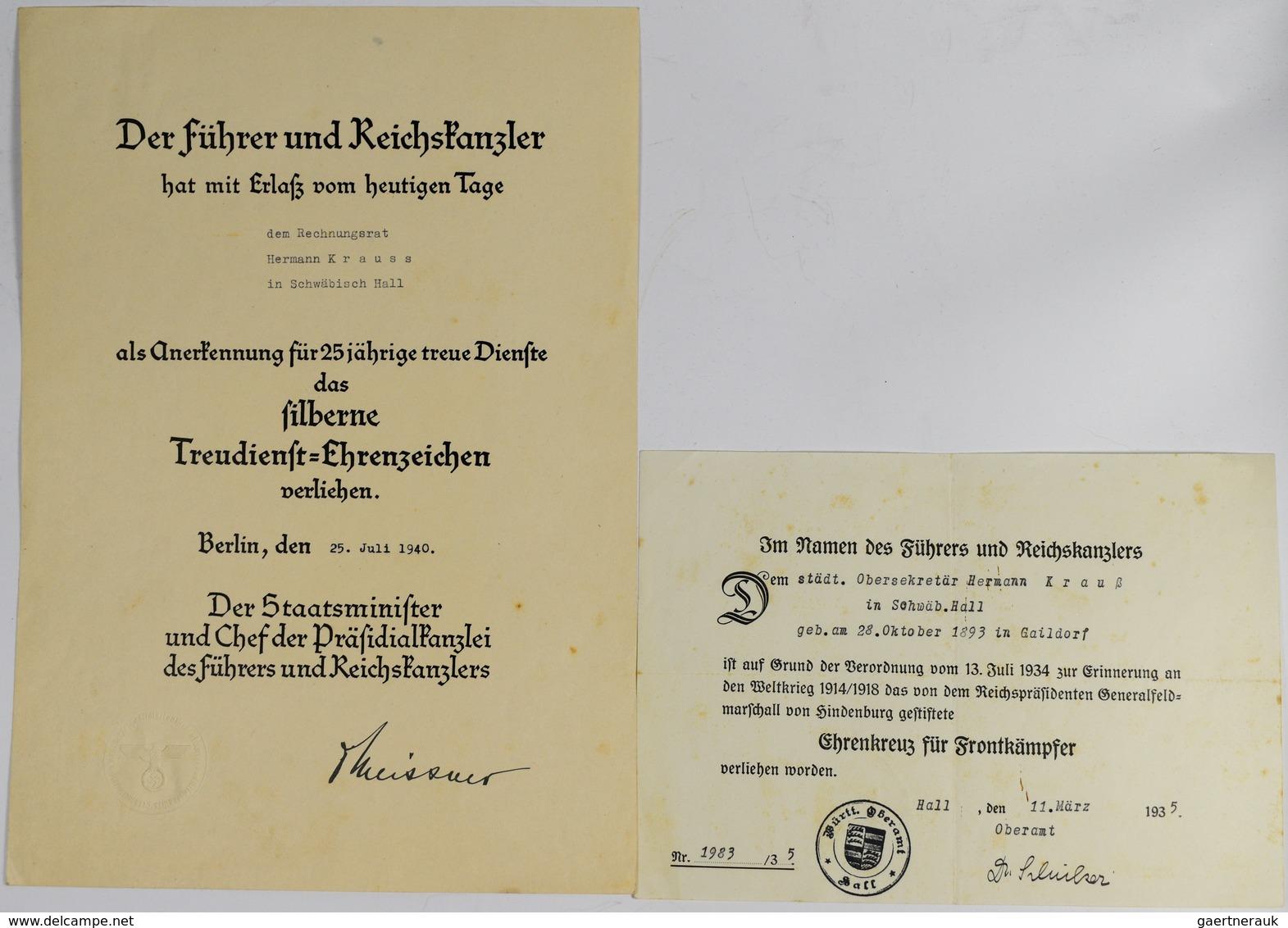 Orden & Ehrenzeichen: 3er Spange Auszeichnungen: Tapferkeitsmedaille 1892 Württemberg (OEK 3035); Eh - Militaria